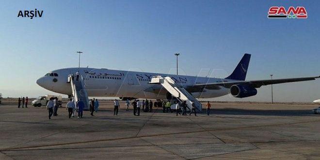 BAE'nden 188 Suriyeliyi Taşıyan Uçak Uluslararası Şam Havaalanına Vardı