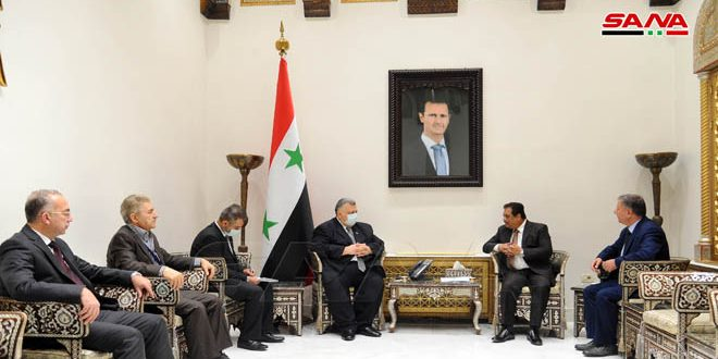 Sabbağ ve Khan Görüşmesinde Suriye ve Pakistan Arasındaki Parlamento İlişkilerini Geliştirme Konularına Odaklandı