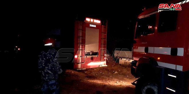 Tartus İtfaiye Ekipleri Bila Köyünde Çıkan Yangın Söndürdü