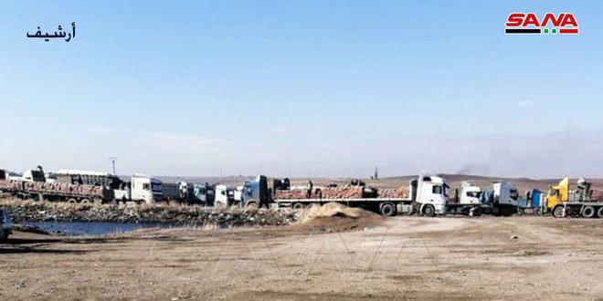 Amerikan İşgali Çalıntı Buğuday ve Arpa Taşıyan 45 Kamyonu Irak Topraklarına Çıkardı