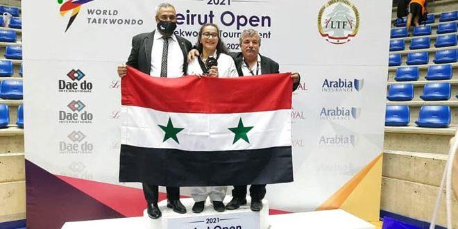 Beyrut Uluslararası Açık Tekvando Şampiyonası'nda Suriye Takımı Bronz Madalya Kazandı