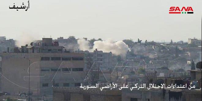 Türk İşgali ve Kiralık Çeteleri Halep'in Kuzeyindeki Köyleri Bombardımanla Hedef Aldı