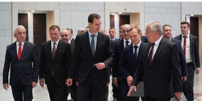 Esad, Lavrentiev İle Suriyeli Mültecilerin Dönüşü Konusunda İki Ülke Arasındaki Ortak Çaba Ve İşbirliğini Görüştü