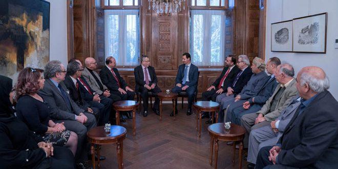الرئيس الأسد:الفكر كان عاملا من عوامل صمود السوريين