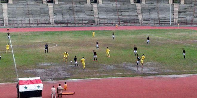 فوز تشرين على القلعة في ذهاب دور الـ 32 لكأس الجمهورية بكرة القدم