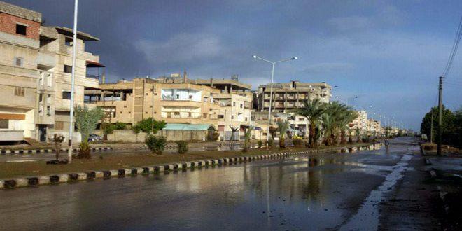هطولات مطرية أغزرها 114 مم في طرطوس… الأرصاد: الجو ماطر على فترات وثلوج فوق 1000 متر