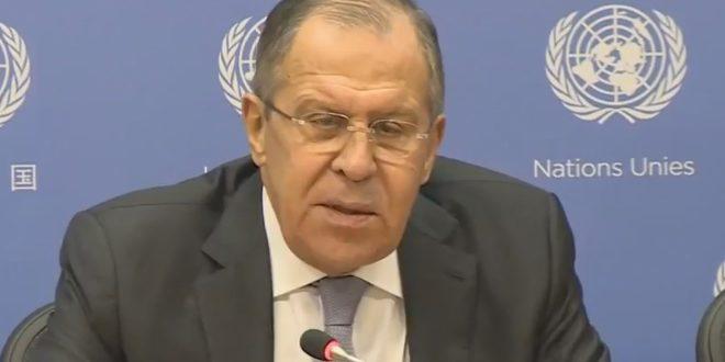 لافروف: تحالف واشنطن لا يقاتل تنظيم جبهة النصرة الإرهابي في سورية