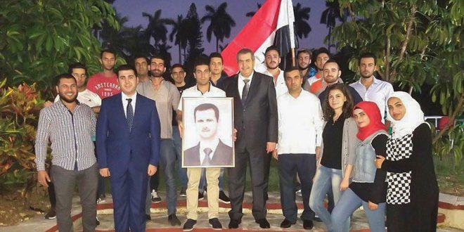 الطلبة السوريون في كوبا يؤكدون ثقتهم بانتصار سورية على الإرهاب