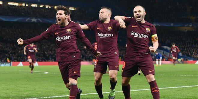 برشلونة يخطف التعادل من أرض تشيلسي وبايرن يسحق بشيكطاش في دوري الأبطال