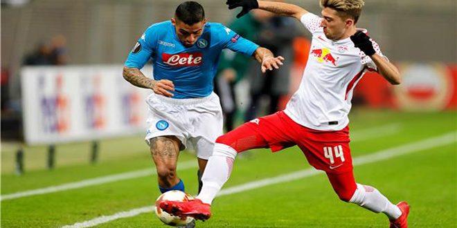 نابولي يودع بطولة الدوري الأوروبي بكرة القدم