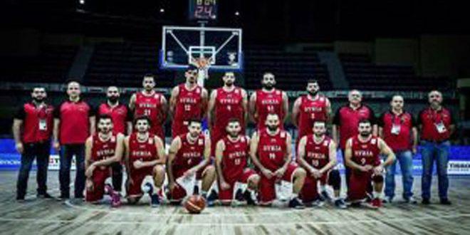 منتخب سورية لكرة السلة تحت 18 عاماً يتأهل إلى نهائيات آسيا بعد فوزه على نظيره الأردني