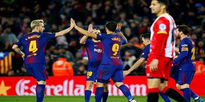 برشلونة يهزم جيرونا بسداسية في الدوري الإسباني