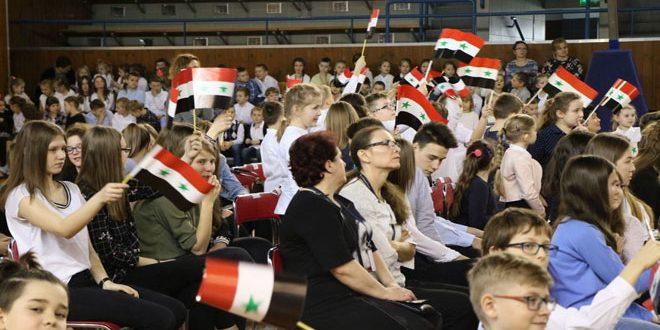 أطفال بولندا يقفون إلى جانب أطفال سورية بمواجهة الإرهاب وتداعياته