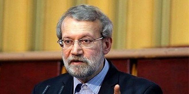 لاريجاني: العدوان الثلاثي على سورية جاء لدعم الإرهابيين