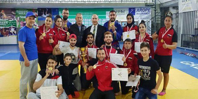 منتخب سورية للسامبو والكوراش يحقق المركز الأول في البطولة العربية في لبنان