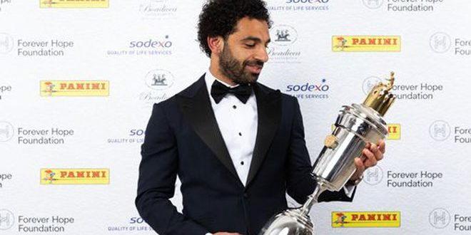 محمد صلاح مهاجم ليفربول يفوز بجائزة رابطة اللاعبين لأفضل لاعب بانكلترا