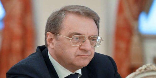 بوغدانوف:روسيا ملتزمة بالقرار2254 الذي يؤكد على وحدة وسيادة سورية