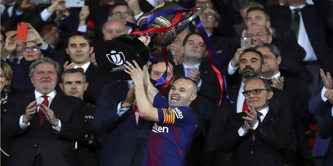برشلونة يحرز لقب كأس ملك إسبانيا لكرة القدم