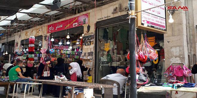 أكثر من 1000 محل تجاري في حلب القديمة عادت للعمل