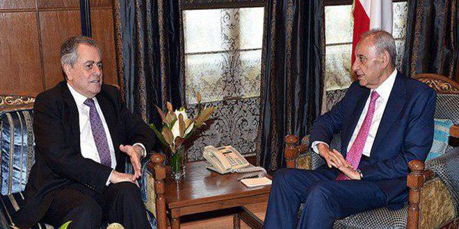 بري يبحث مع السفير عبد الكريم التطورات الراهنة في لبنان والمنطقة