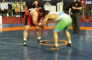 المصارع السوري رجا الكراد  بطولة العالم العسكرية