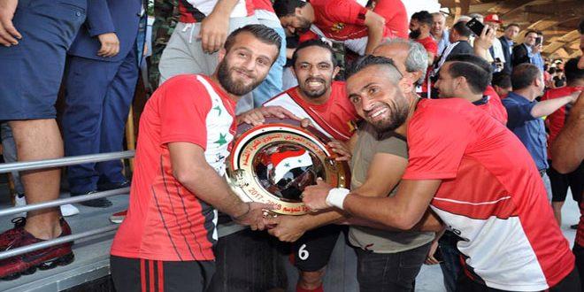 الاتحاد الدولي لكرة القدم يهنئ فريق الجيش لإحرازه لقب الدوري