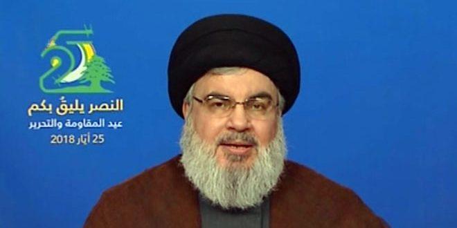 السيد نصرالله: المقاومة التي دحرت المحتل الإسرائيلي من جنوب لبنان هي اليوم أقوى وأصلب