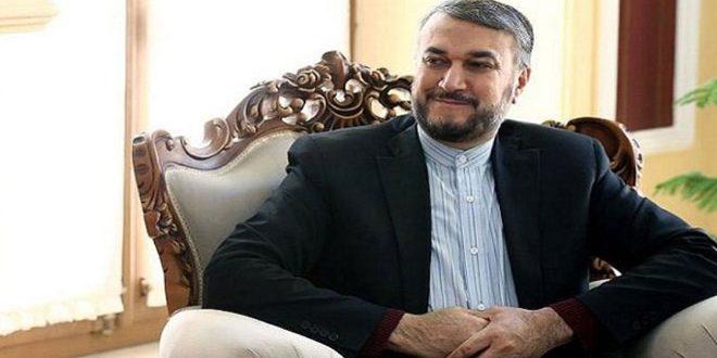 عبد اللهيان يؤكد مجددا ضرورة إيجاد حل سلمي للأزمة في سورية