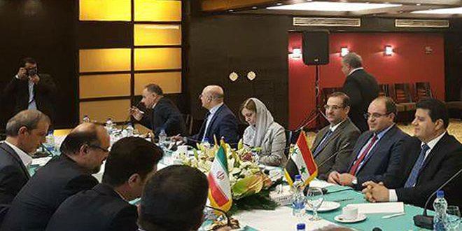 سورية وإيران تبحثان تطوير اتفاقية التجارة الحرة وانسياب البضائع بين البلدين