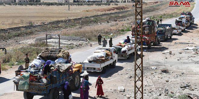 عودة دفعات جديدة من المهجرين إلى منازلهم في أرياف حلب وإدلب وحماة.. والجهات المعنية تقدم الخدمات الأساسية لهم