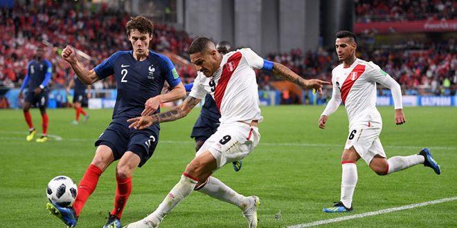 منتخب فرنسا يتأهل إلى الدور الثاني لبطولة كأس العالم بفوزه على البيرو