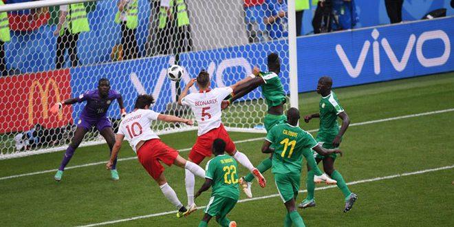 فوز السنغال على بولندا ضمن منافسات المجموعة الثامنة من مونديال روسيا