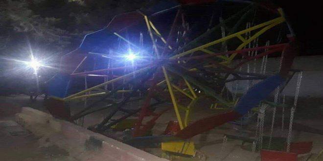 وفاة طفلة وإصابة ثلاثة آخرين بحادث سقوط أرجوحة ألعاب بالحسكة