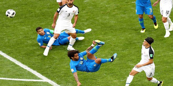 الدقائق الأخيرة تمنح البرازيل فوزا مهما على كوستاريكا في مونديال روسيا