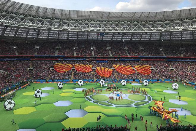 بالصور.. انطلاق بطولة كأس العالم لكرة القدم في روسيا