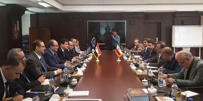 سورية وإيران تبحثان تطوير آليات التعاون الاقتصادي