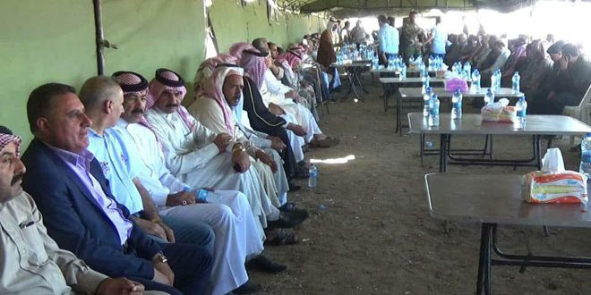 وجهاء قبائل وعشائر إدلب وحماة وحلب يجددون وقوفهم خلف الجيش في حربه على الإرهاب