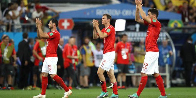 سويسرا تخطف نقطة ثمينة بتعادلها مع البرازيل في مونديال روسيا