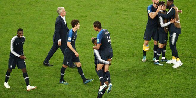 فرنسا تتأهل إلى نهائي مونديال روسيا بعد فوزها على بلجيكا