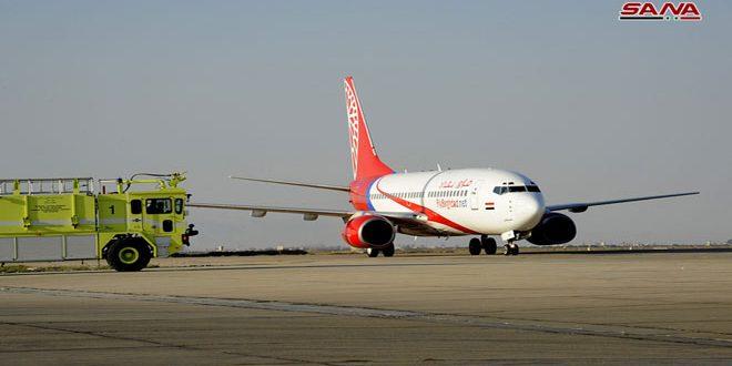 شركة فلاي بغداد تسير أولى رحلاتها إلى مطار دمشق الدولي
