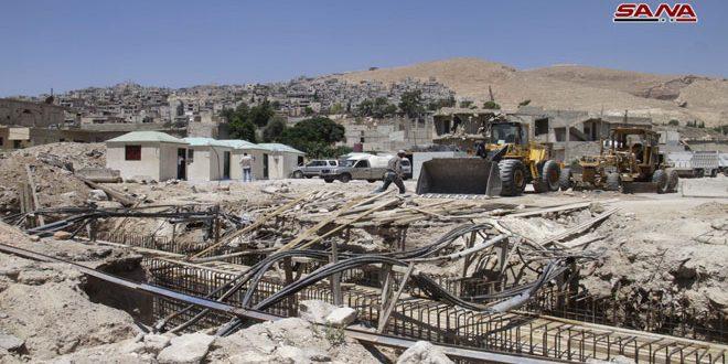 إعادة تأهيل وتوسيع طريق برزة مشفى تشرين العسكري ليكون بالخدمة مطلع العام المقبل
