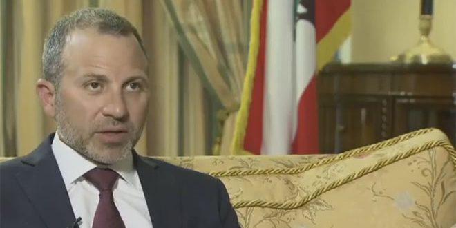 باسيل: الشعب السوري وحده من يقرر مستقبل بلاده