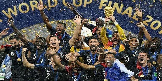 المنتخب الفرنسي يعتلي صدارة التصنيف الشهري للفيفا