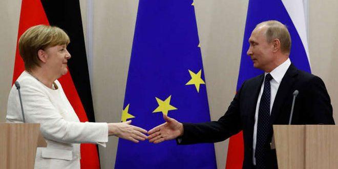 ميركل تبحث مع بوتين الأزمة في سورية وأوكرانيا