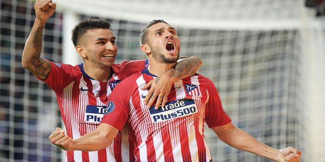 اتلتيكو مدريد يتوج بطلاً لكأس السوبر الأوروبية بكرة القدم