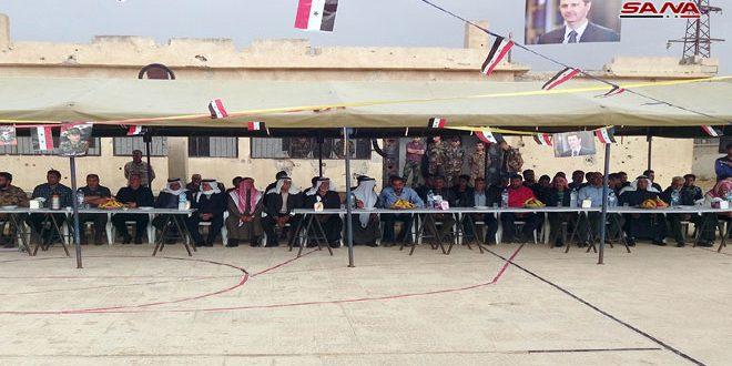 استكمالا للمصالحات.. خيمة وطن في قرية ممتنة بريف القنيطرة