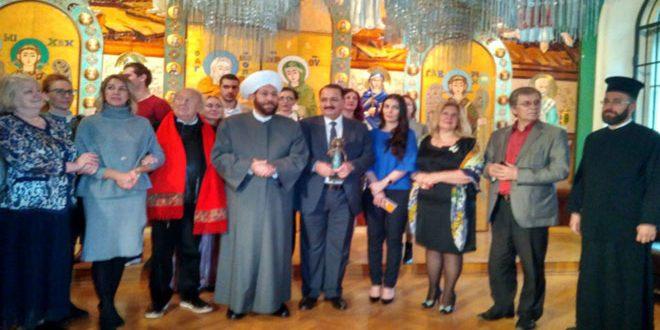 الأكاديمية الروسية للفنون الجميلة تهدي سورية تذكارا