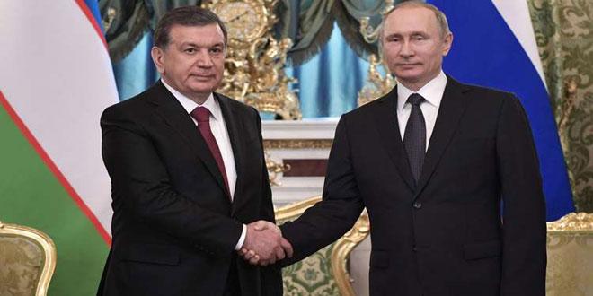 توقيع اتفاقيات بـ 27 مليار دولار خلال زيارة بوتين إلى أوزبكستان