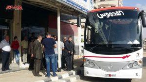 شركة القدموس تسير أولى رحلاتها بين درعا ودمشق – S A N A