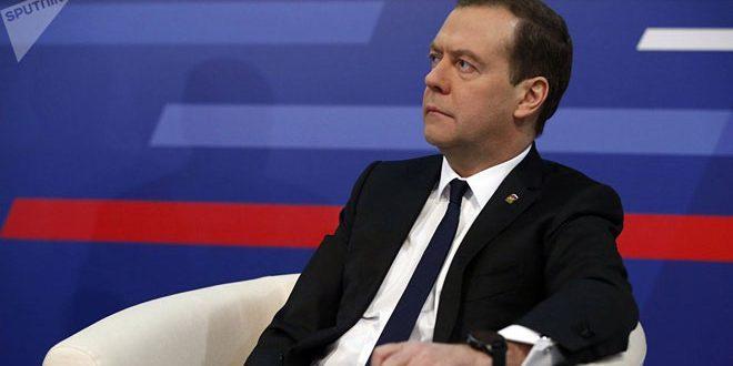 مدفيديف يجدد دعم موسكو للحوار الوطني السوري لحل الأزمة